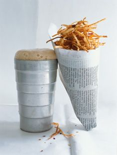celeriac shoestrings with fennel and chilli salt