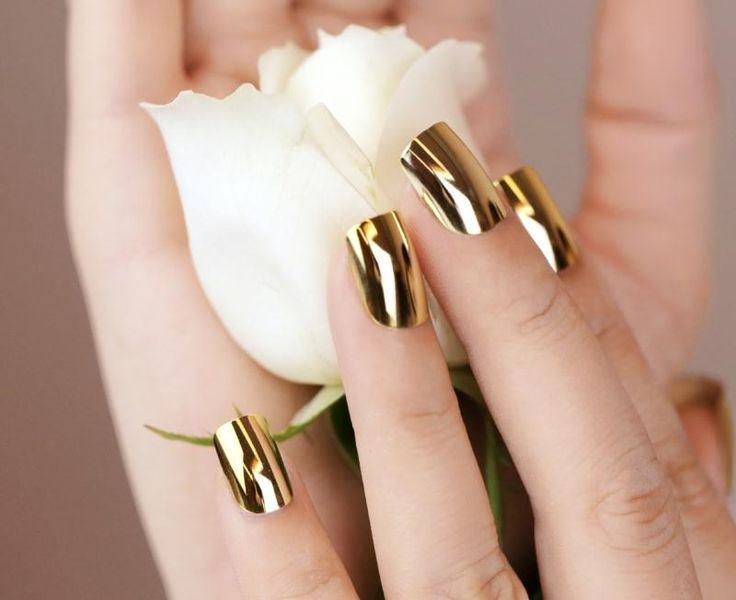 nice Оригинальный золотой маникюр (50 фото) — Лучшие идеи дизайна ногтей