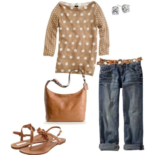 love!: Bigger Closets, Casual Outfit, Clothing I D, Summer Outfit, Linens Polka, Dots Sweather, Sweaters Create, Polka Dots Sweaters, Linens Dots