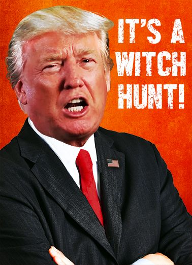 Witch Hunt Funny Birthday President Trump Says The Illegal Investigation Is A