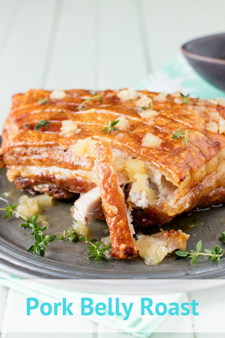 Crispy Roast Pork Belly recipe. Little beats the tender succulence of a slow roasted belly of pork. This relatively economical cut, topped with a sweet pineapple glaze, really is aSunday lunch winner.