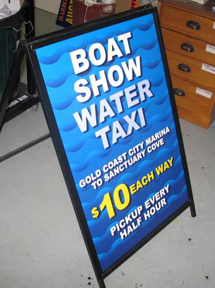 Boat Show Water Taxi - #Standard #Signage
