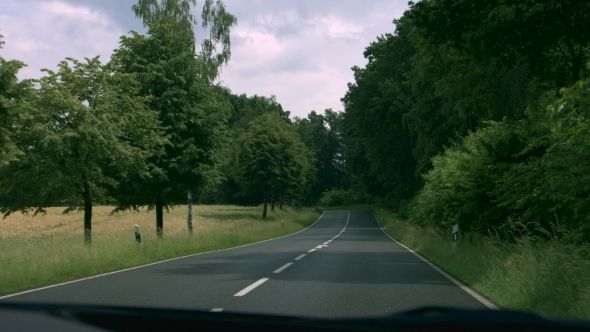 Forest Road In Germany by snksnksnksnksnk Onboard camera, driving in a forest in germany,