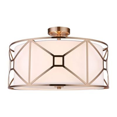 Woodbridge Lighting 17135 Regan 3 Light Semi-flush Ceiling Light