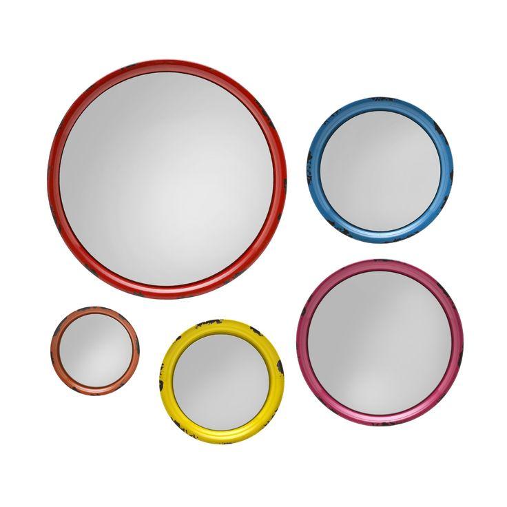5 Piece Round Wall Mirror Set