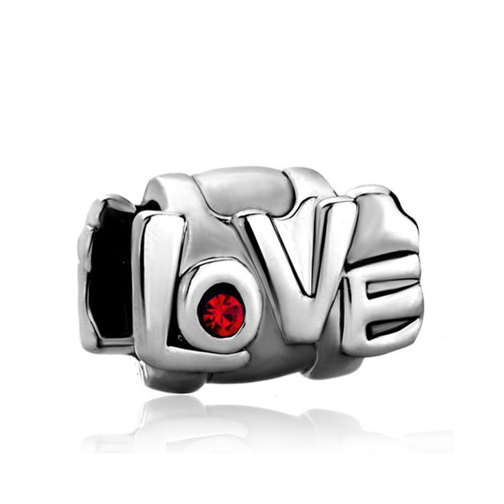 Pugster Jewelry Birthstone Red Crystal Love European Bead Charms Bracelet Fits Pandora Charm: Pugster… #CheapJewelry #DesignerJewelry