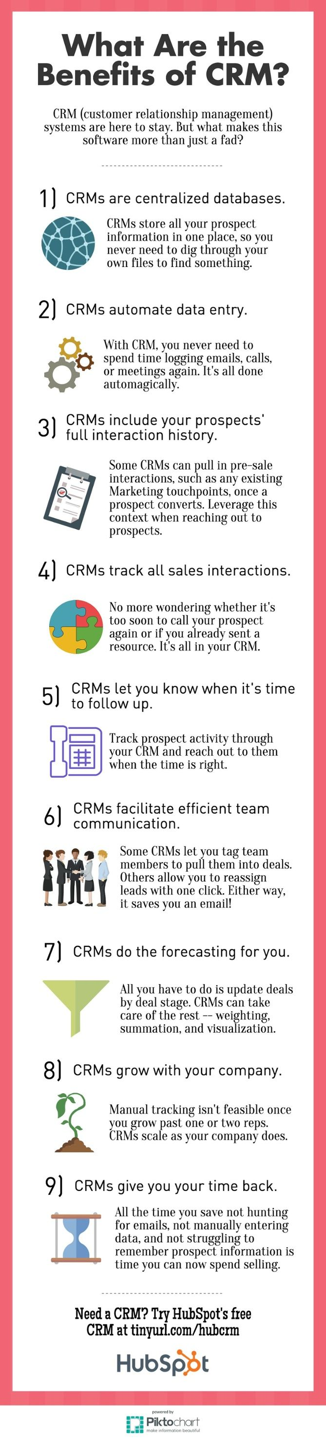 9 Benefits of #CRM Software #Infographic via @HubSpot