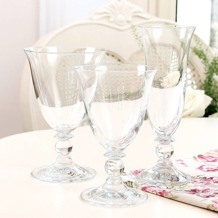 I've just found Luxury Fluted Short Stemmed Glasses. Ideal for occasional or everyday use, this range of glassware will certainly complement existing tableware and exude style and sophistication. . £7.00