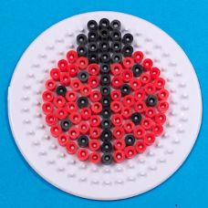 Use melty beads and the different peg board shapes to create a kite, bumblebee, floral pattern, rainbow and lady bug!