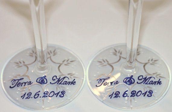 Sneeuwvlok Champagne Flutes Winter bruiloft proosten bril
