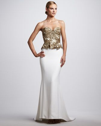 Beaded Corset-Top Gown -Marchesa Couture