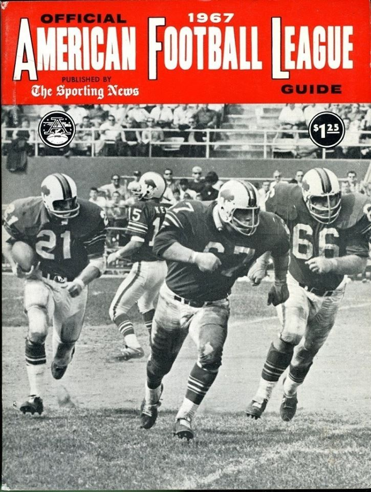 1967 Official American Football League The Sporting News Guide Buffalo Bills AFL http://clektr.com/XQF