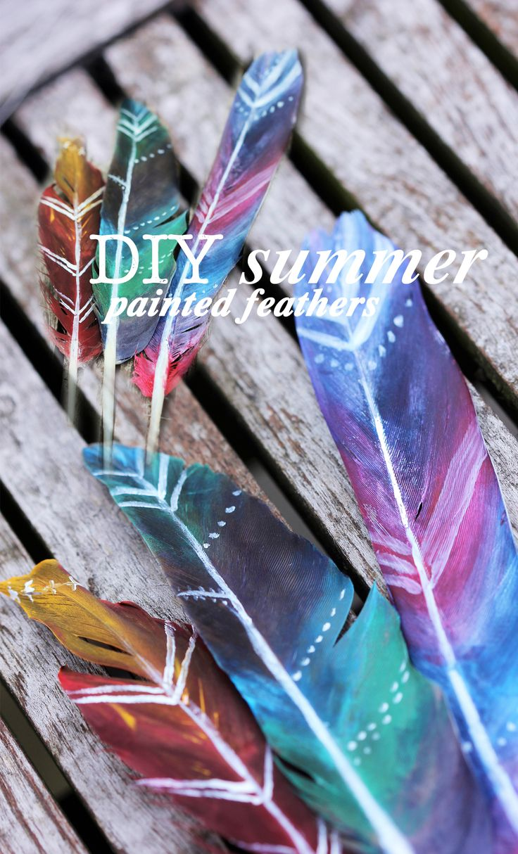 DIY painted feather