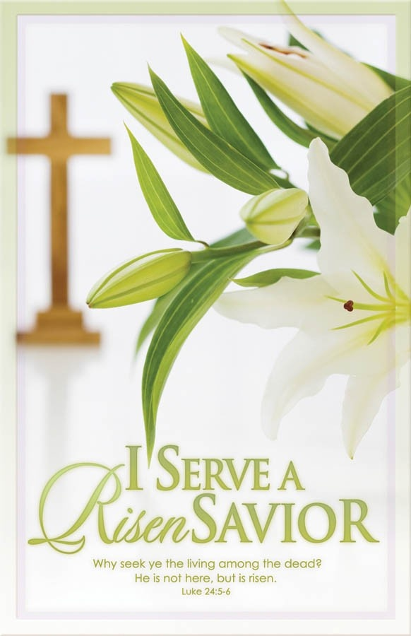 I serve a risen Savior! He's in the world today...I know that He is living, whatever men may say. He Lives!