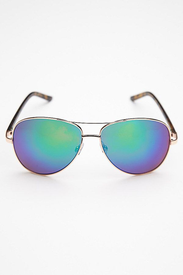"Blue Mirrored Aviator Sunglasses, <a href=""http://www.freepeople.com/sunglasses/apres-ski-sunglass/?cm_mmc=CJ-_-Affiliates-_-Polyvore-_-Product Catalog"">FREE PEOPLE</a>, $18 -Cosmopolitan.com"