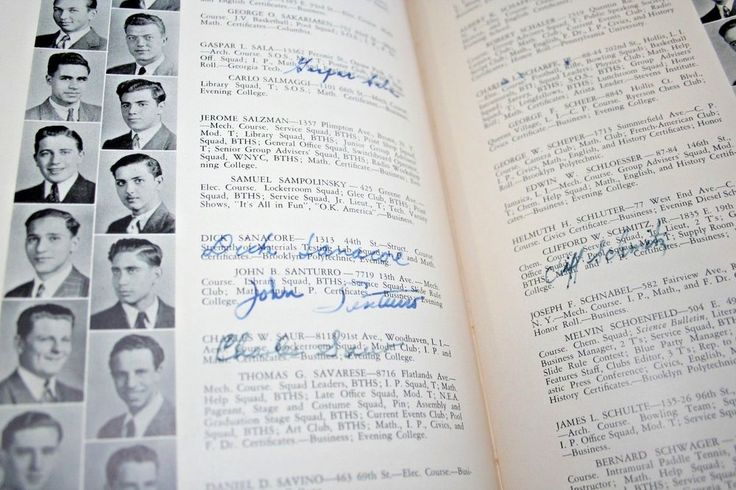 1941 Brooklyn Tech High School Yearbook NY Student Clubs Sports Photos Signature