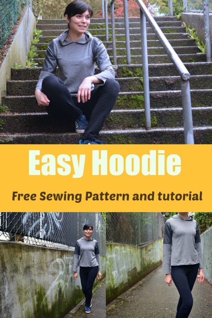 Free Sewing Pattern: Easy Hoodie. Get FREE access to this easy hoodie pattern. Sizes from 4 to 22 at On the Cutting Floor!