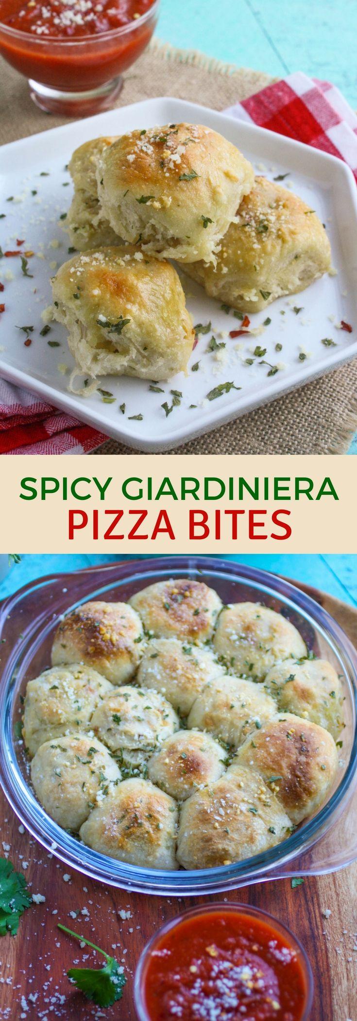 Spicy Giardiniera Pizza Bites