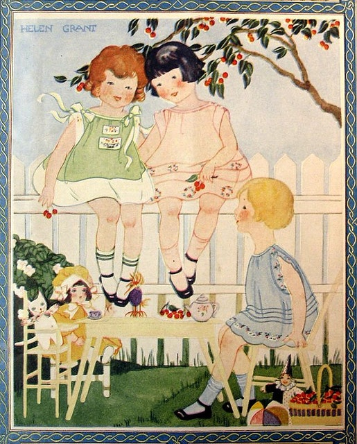 Needlecraft July 1926    magazine cover. Illustrated by Helen Grant