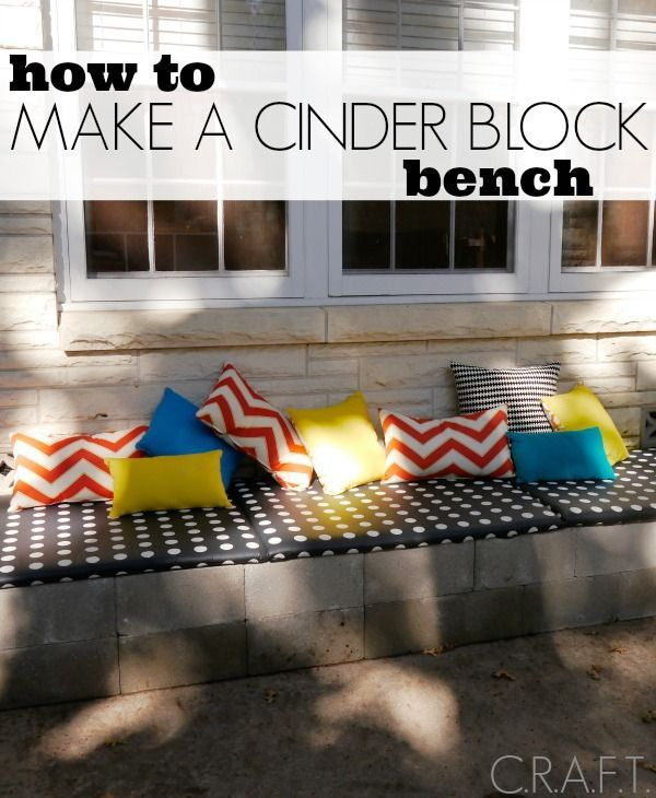 How to make an outdoor cinder block bench for your patio in an afternoon!:
