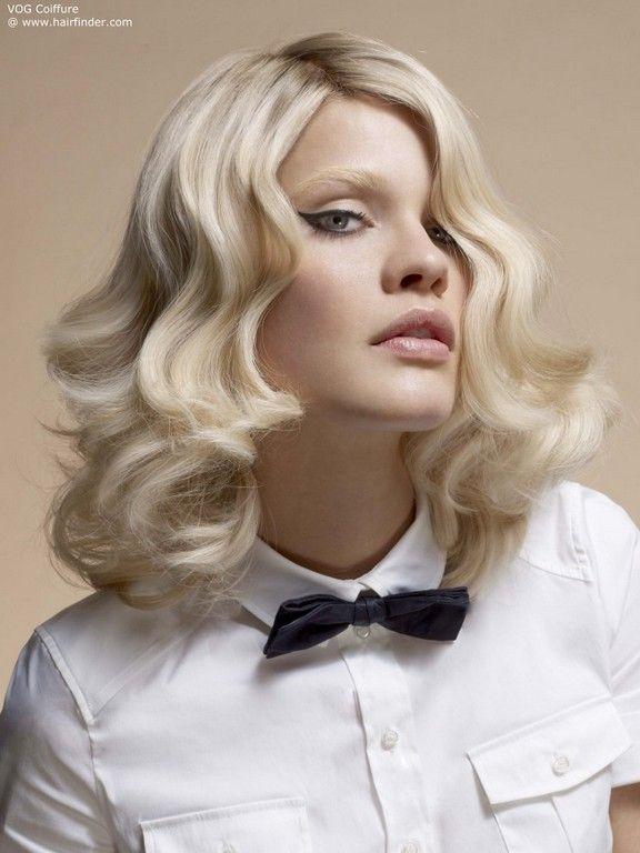 накрученные волосы на средние волосы фото