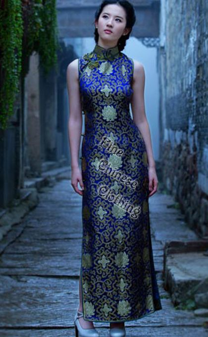 Cheongsams/Qipao Full Length - Divine Chinese Qipao - Elegant Girl