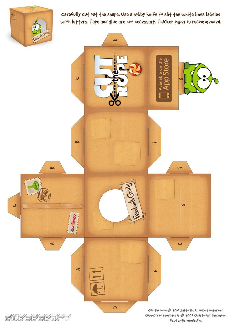 Cut the Rope Papercraft Box | Cut The Rope Sells 1 Million Copies In 10 Days, Becomes The Fastest ...