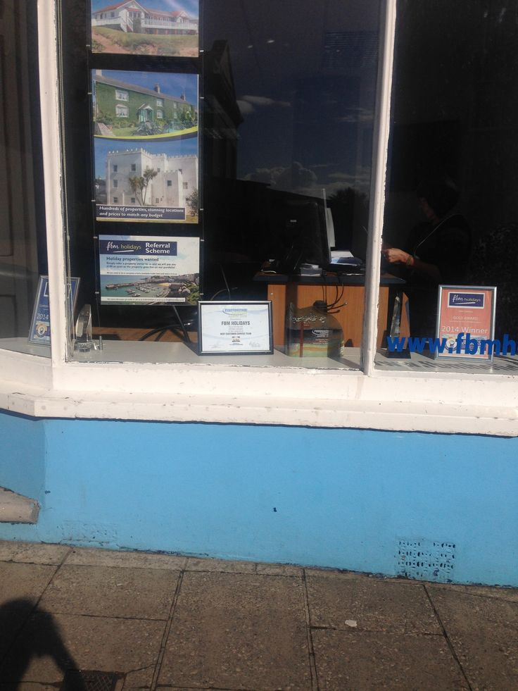 Our awards sitting proudly in our office window