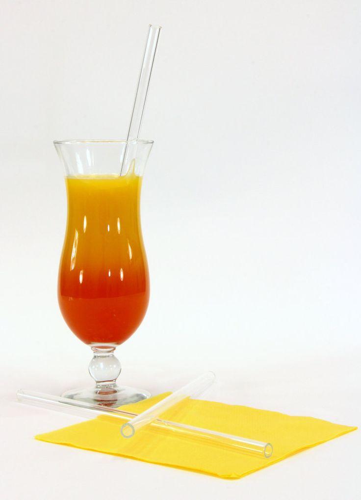 Der XL-Glastrinkhalm. Mit 25 cm Länge ideal für Cocktails oder hohe Longdrinkgläser!
