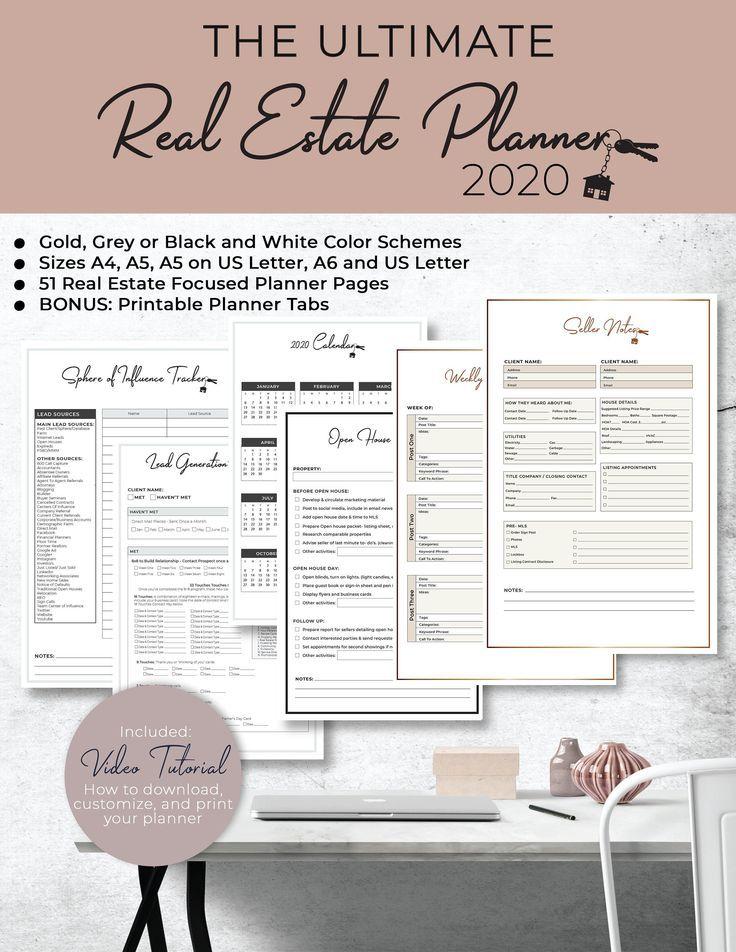 Ultimate 2021 Real Estate Business Planner Instant Digital Etsy Business Planner Real Estate Business Real Estate
