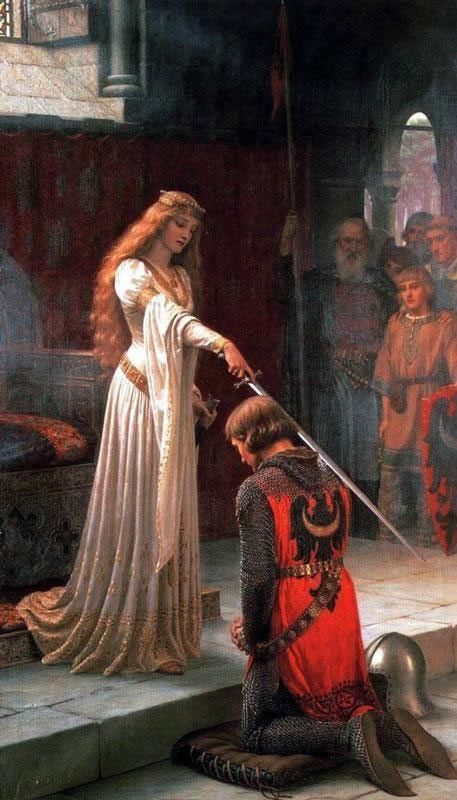 The Accolade by Edmund Leighton - inspiration for Eowyn's Shieldmaiden gown (look at the sleeves)