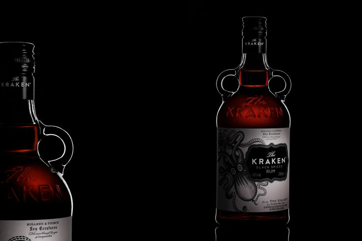 Kraken RUM beverages product photo. Drink.