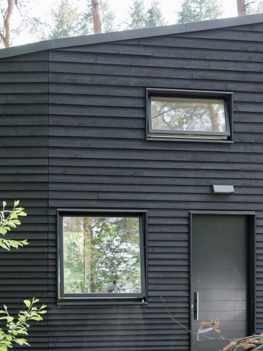 House in the Woods, Germany. Black weatherboard.