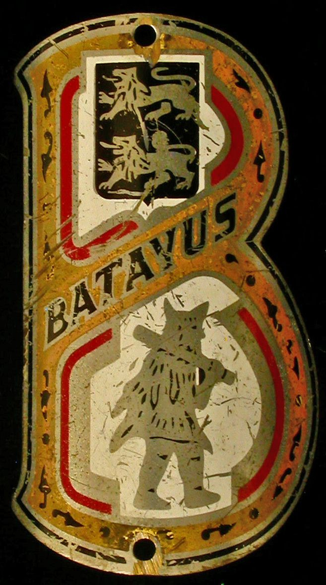 Vintage Dutch Batavus Bicycle Bike Head Badge.