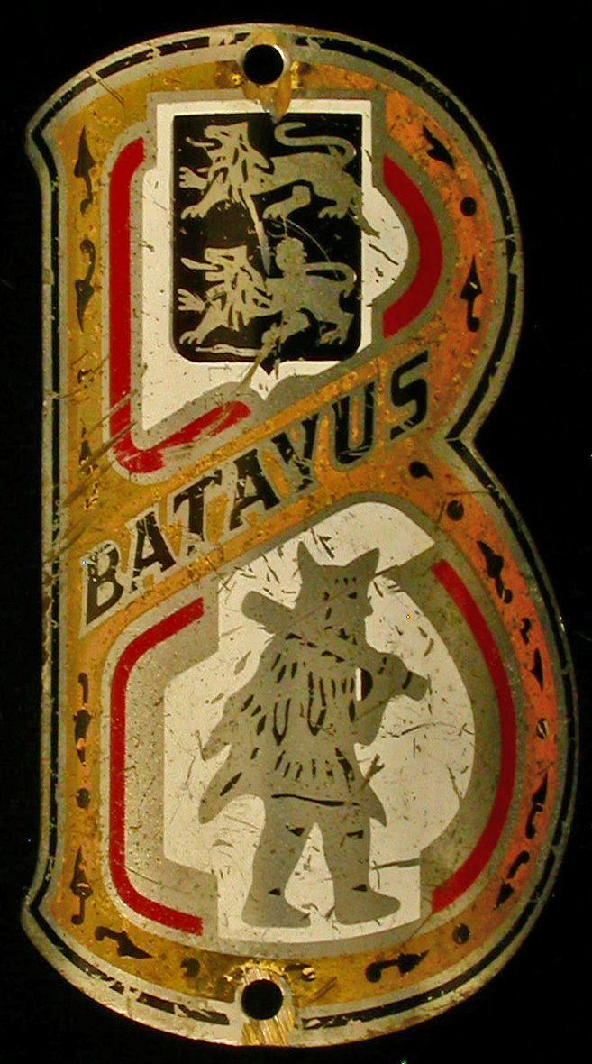 Vintage Dutch Batavus Bicycle Bike Head Badge.