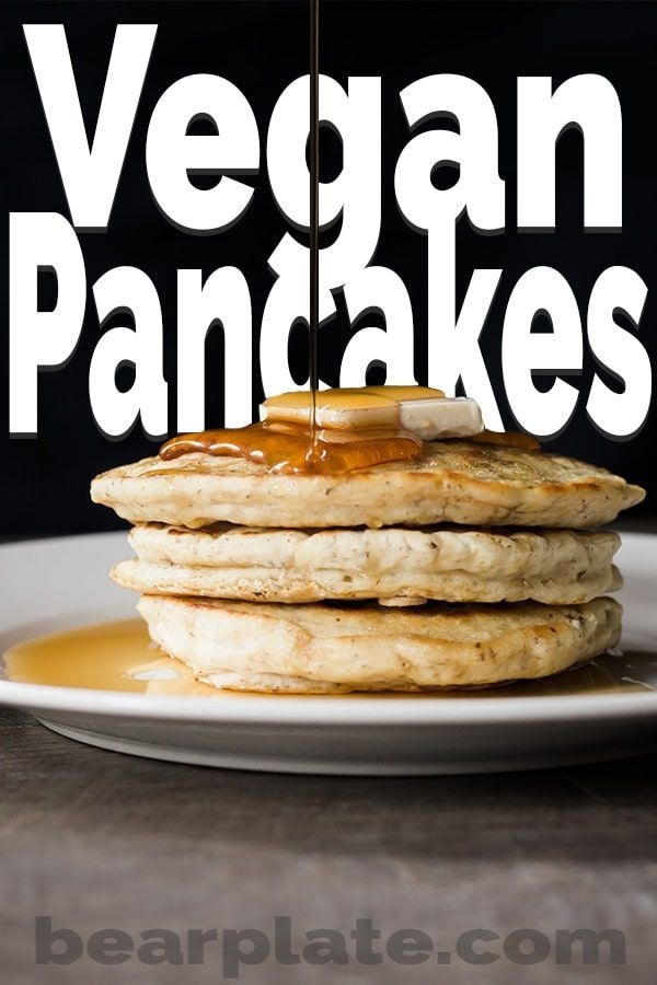 Vegan Pancakes Recipe Vegan Pancakes Food Recipes Food