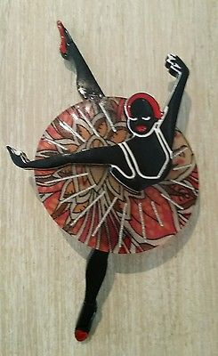 Erstwilder Resin Ballerina Brooch Vintage Art Deco.