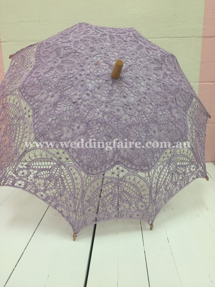 Classic Lace Parasol - Lilac - The Wedding Faire
