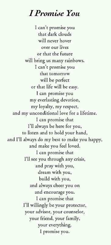 This is my promise to you Sam.