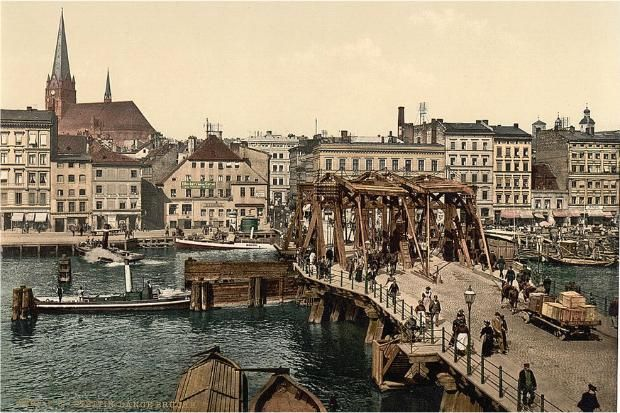 Old Postcard, Szczecin, Poland