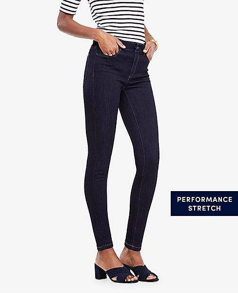 Curvy jeans in evening sea wash at Ann Taylor