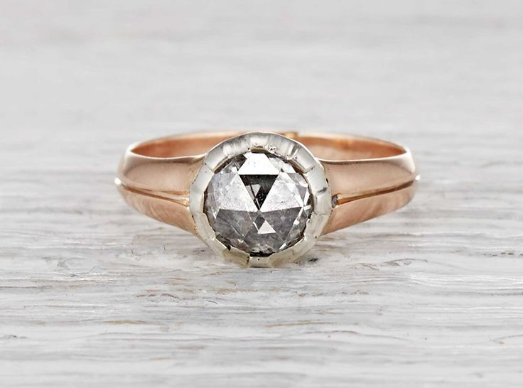 Amazing Early Antique Victorian Rose Cut Engagement Ring Erstwhile