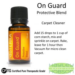 On Guard Carpet Cleaner - doterra essential oil how to - hayleyhobson.com