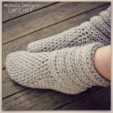 Ladies Slouch Boots Crochet Pattern - Holland Designs ...