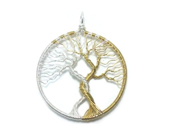 FREE SHIPPING Tolkien inspired wire wrap tree pendant by JessyHerc