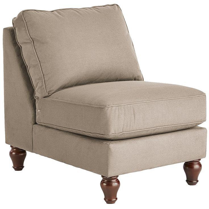 Alton Armless Chair - Tan