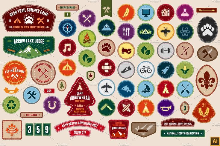 Scout badges by Ember Studio on @creativemarket