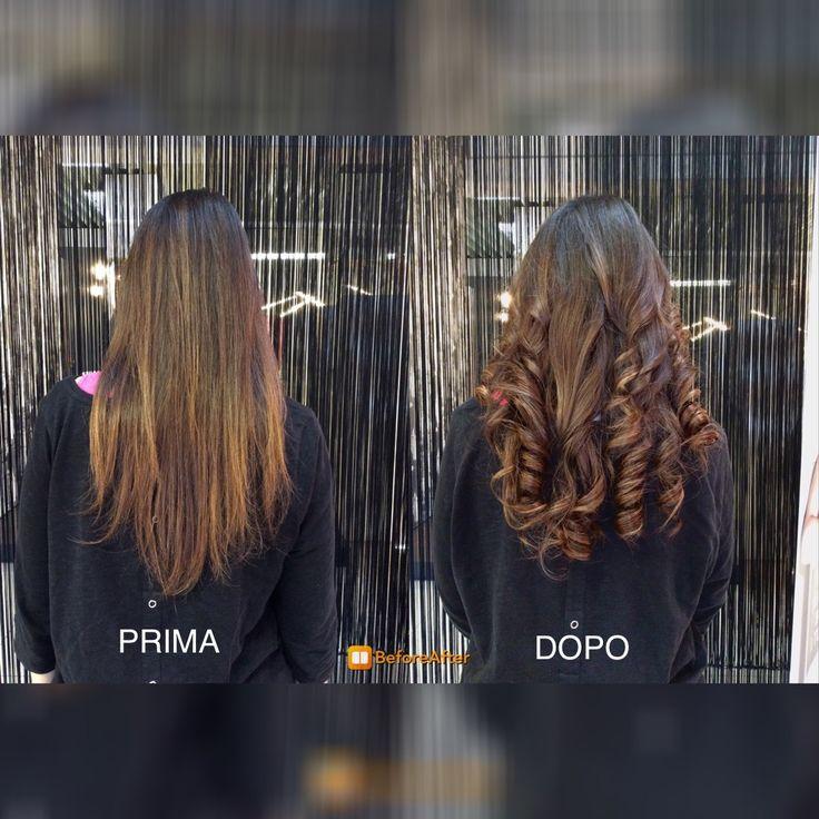 Before and after! Ecco lo straordinario risultato ottenuto con le extension Balmain! Capello corposo e voluminoso!   Applicazione by Eliana!  #volume #hair #balmain #estension #wow #treviso   www.gateoneparrucchieri.it
