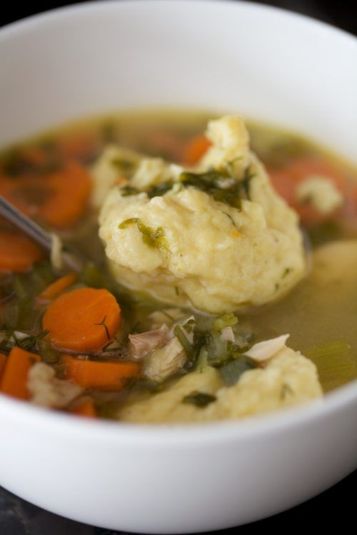 Chicken Soup with Egg Dumplings