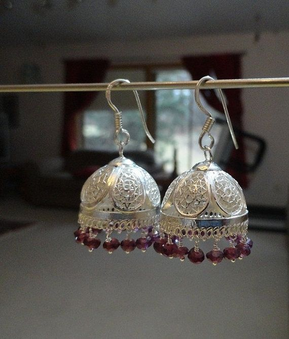 Jaipur Jhumkas - Highly Polished Filigree Chandeliers with ...